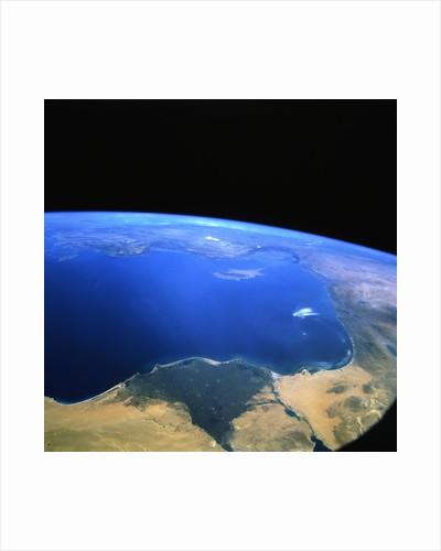 Eastern Mediterranean Sea from Space by Corbis