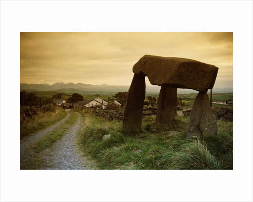 Dolmen in Irish Countryside by Corbis