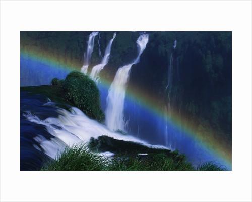 Rainbow Over Iguazu Falls by Corbis