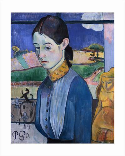 Young Breton Woman by Paul Gauguin