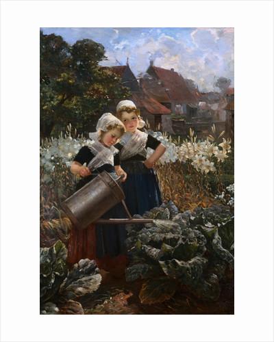 Die Kleinen Gartnerinnen by Edmund Louyot