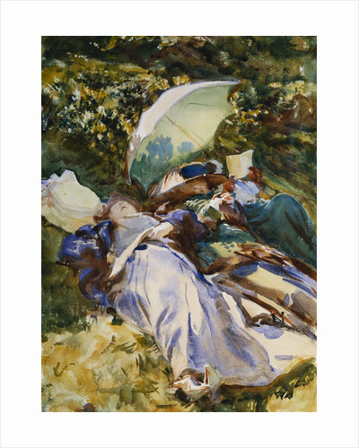 The Green Parasol by John Singer Sargent