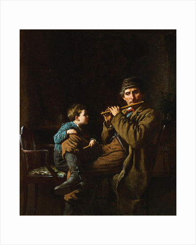 The Earnest Pupil by Eastman Johnson
