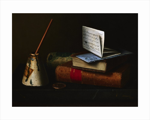 Still Life with Letter to Mr. Lask by William Michael Harnett