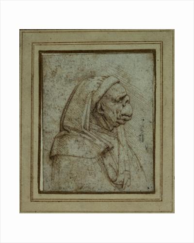 Caricature of a Figure in a Headcloth by Leonardo da Vinci
