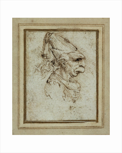 Caricature of a Woman Wearing a Hennin by Leonardo da Vinci