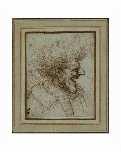 Caricature of a Laughing Man by Leonardo da Vinci