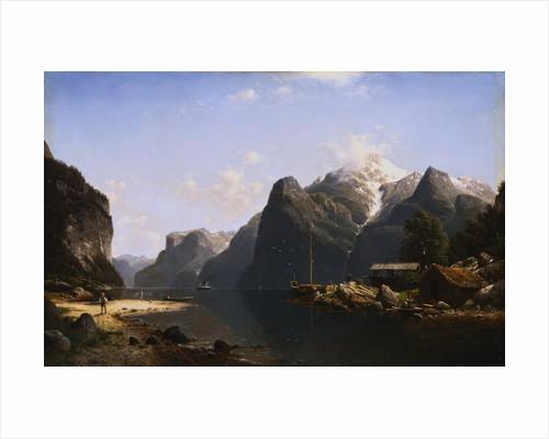 A Norwegian Fjord by Johannes Bartholomaus Duntze
