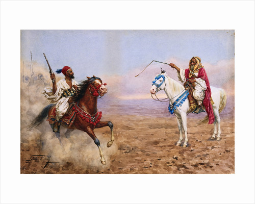 Arab Horsemen by Giulio Rosati
