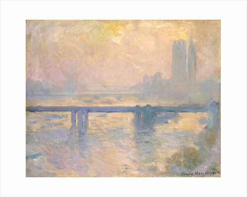Charing Cross Bridge at the Houses of Parliament by Claude Monet