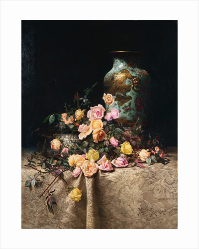 Still Life with Roses by Milne Ramsey