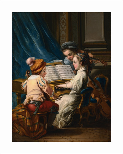 The Four Arts: 'Music' by Charles-Andre van Loo