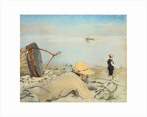 On the Pebbles (Honfleur) by Eva Gonzales