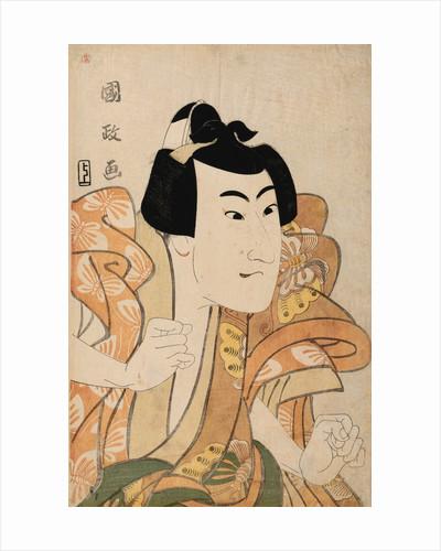Half-Length Portrait of the Actor Onoe Eizaburo by Kunimasa