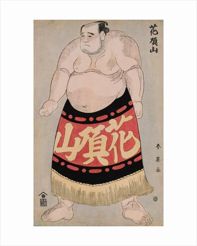 Full-Length Portrait of the Wrestler Kachozan by Shunei