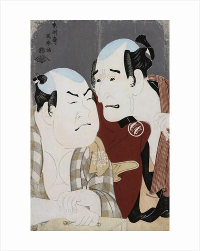 Double Half-Length Portraits of the Actor Nakajima Wadaemon and Nakamura Konozo by Sharaku