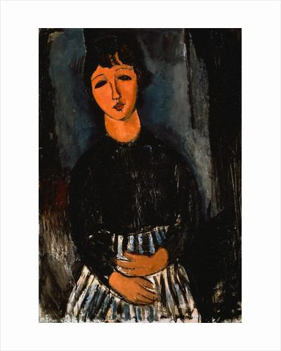 Servant with Striped Apron by Amedeo Modigliani