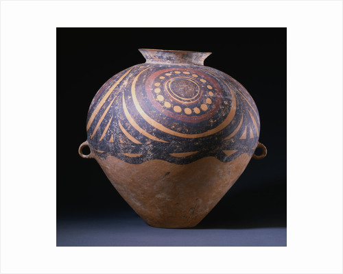 A Neolithic Painted Red Pottery Jar, Gansu/Yangshao Culture, Machang Phase, Circa 2000 B.C. by Corbis
