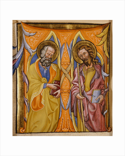 Illuminated Manuscript with Saints Philip and James by a Follower of Martino di Bartolommeo by Corbis