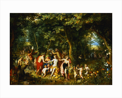Allegory of Abundance. Four Seasons Paying Homage to Goddess by Jan Brueghel the Elder and Hendrick van Balen by Corbis