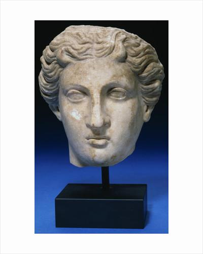 Roman Marble Head of a Goddess. Circa 2nd Century A.D. by Corbis