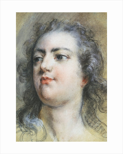 The Head of King Louis XV; A Study for Allegorical Full-Length Portrait of 1729 by Francois Le Moyne