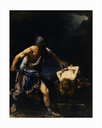 The Sacrifice of Isaac Attributed to Salvator Rosa by Corbis