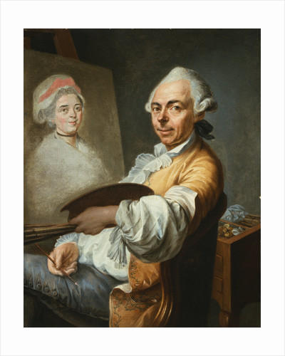 An Artist at His Easel by Circle of Fragonard