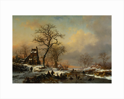 Painting of a Winter Landscape by Corbis