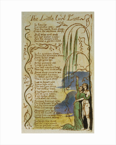 The Little Girl Lost from Songs of Innocence by William Blake