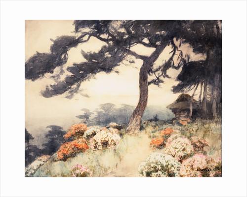 Hillside with Flowering Azalea by Yoshida Hiroshi
