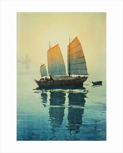 Morning, from a Set of Six Prints of Sailing Boats by Hiroshi Yoshida