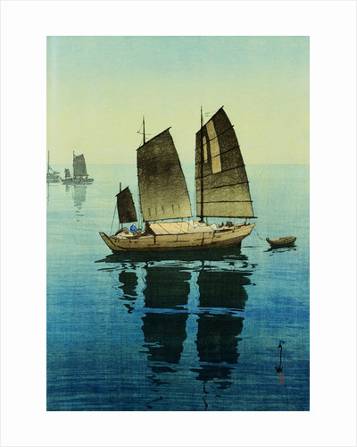 Forenoon, from a Set of Six Prints of Sailing Boats by Hiroshi Yoshida