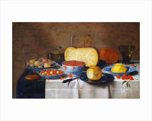 Still Life with Fruit, Bread and Cheese by Floris van Schooten