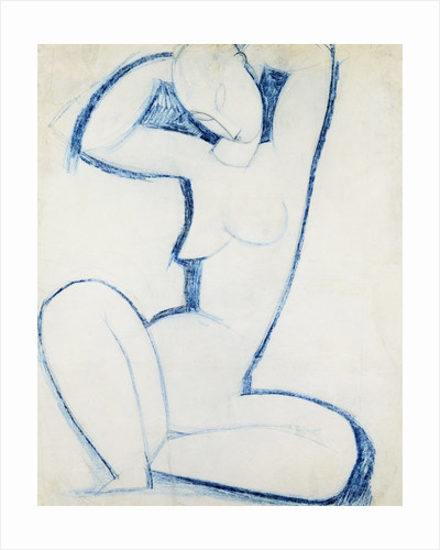 Blue Caryatid II by Amedeo Modigliani