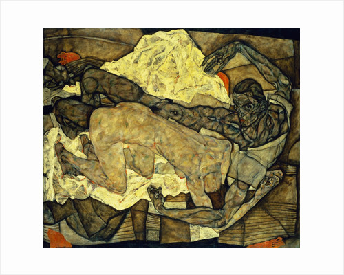 Lovers (Man and Woman I) by Egon Schiele