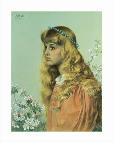Adele: Portrait of Miss Adele Donaldson by Frederick Sandys