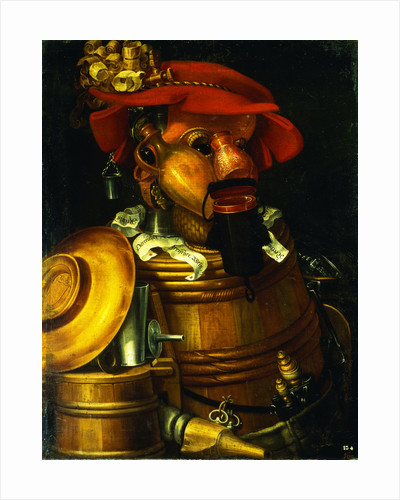 The Waiter: An Anthropomorphic Assembly of Objects Related To Winemaking by Giuseppe Arcimboldo