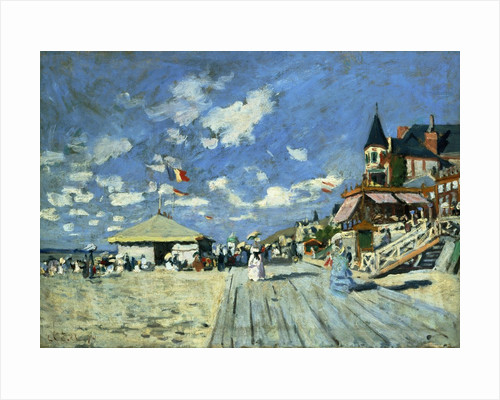 On the Boardwalk at Trouville by Claude Monet