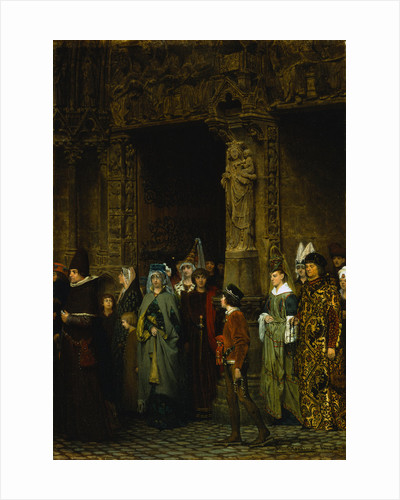 Leaving Church in the Fifteenth Century by Lawrence Alma-Tadema