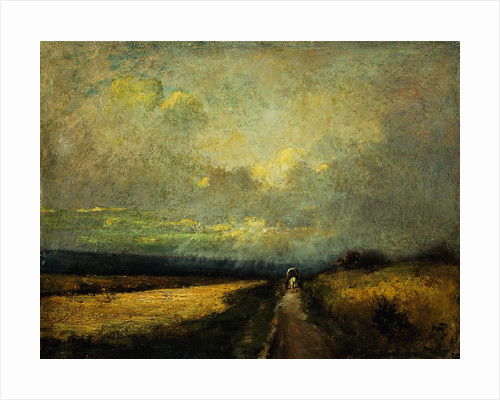 A Wagon on a Path by Jules Dupre