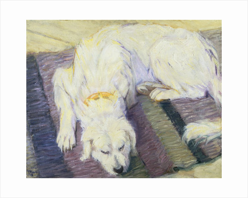 Dog Lying Down (Dog Portrait) by Franz Marc