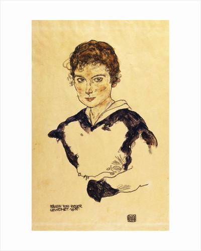 Portrait of Miss Toni Rieger by Egon Schiele