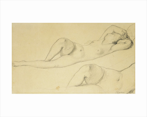 A Reclining Female Nude by Jean August Dominique Ingres