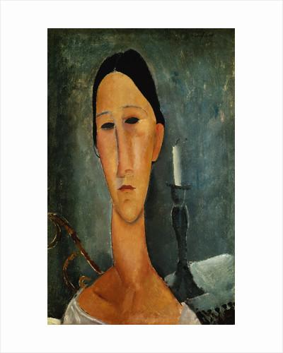 Hanka Zborowska with Candlestick by Amedeo Modigliani