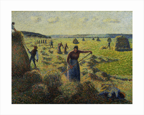 The Hay Harvest, Eragny by Camille Pissarro