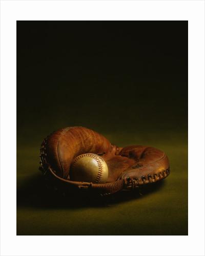 Glove and Baseball by Corbis