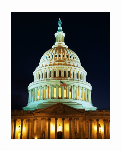 U.S. Capitol at Night by Corbis