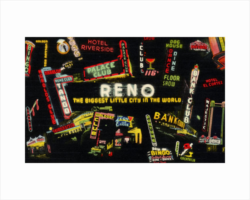 Montage of Neon Signs in Reno by Corbis