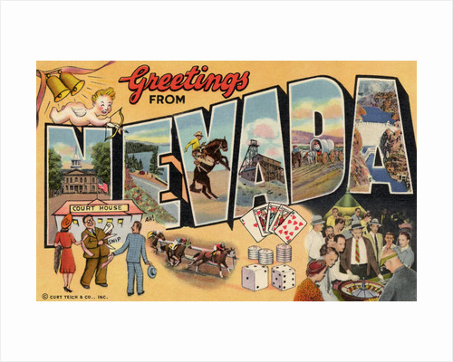 Greetings from Nevada Postcard by Corbis